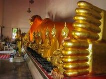 Reclining Golden Buddha Royalty Free Stock Photo