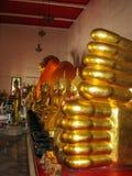 Reclining Golden Buddha Stock Photo