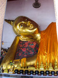 Reclining Golden Buddha Royalty Free Stock Images