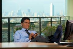 reclining horisontsikt för executive latinamerikanskt kontor Arkivfoton