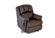 Reclining leather chair Stock Photo