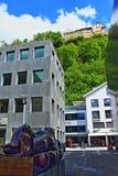 Reclining woman sculpture Vaduz Liechtenstein Royalty Free Stock Images