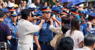 Reclutamento della forza di polizia Fotografia Stock