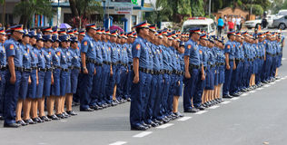 Reclutamento della forza di polizia, Manila, Filippine Fotografia Stock