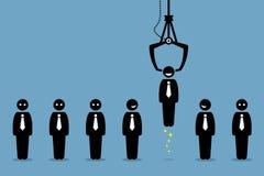 Reclutamiento de reclutamiento del trabajo de la compañía del empleo stock de ilustración