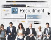 Reclutamiento Job Work Vacancy Search Concept Imágenes de archivo libres de regalías