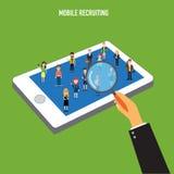 Reclutamiento móvil del recurso humano stock de ilustración