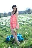 Recoge las flores Fotos de archivo