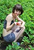 Recogedor de la fresa foto de archivo libre de regalías