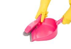 Recogedor de polvo rosado fotografía de archivo libre de regalías