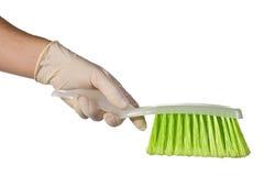 Recogedor de polvo y cepillo Fotografía de archivo libre de regalías