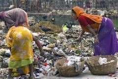 Recogedores de trapo de Calcutta imagenes de archivo