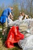 Recogida de la basura Fotografía de archivo libre de regalías