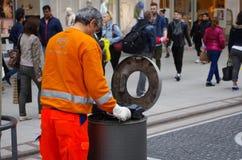 Recogida de residuos Imagen de archivo