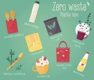 Recogida de residuos cero con reglas Concepto de Eco Imagen de archivo libre de regalías
