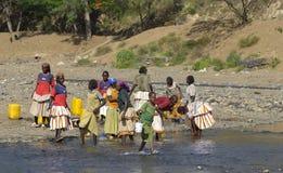 Recogida del agua Foto de archivo libre de regalías