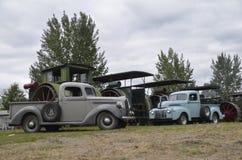Recogidas y motor de vapor viejos en Dalton Fotos de archivo libres de regalías