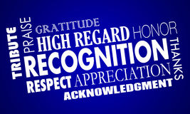Recognition Appreciation Praise Word Collage Royalty Free Stock Photos