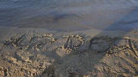 The recognition of love sand lake Baikal shaman summer water beach Stock Photos
