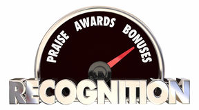 Recognition Praise Awards Bonuses Speedometer Royalty Free Stock Images