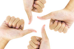 Hand gestures. The recognition by using hand gestures Royalty Free Stock Photo