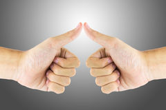Hand gestures. The recognition by using hand gestures Stock Photography