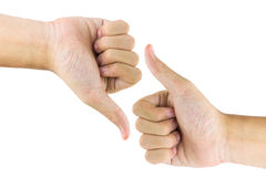 Hand gestures. The recognition by using hand gestures Stock Images
