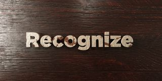 Recognize - grungy wooden headline on Maple  - 3D rendered royalty free stock image Royalty Free Stock Image