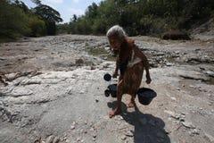 Recoja el agua Imagen de archivo libre de regalías