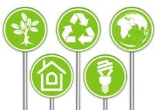 Recoja la bandera del ambiente Imagen de archivo libre de regalías