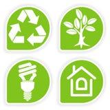 Recoja la etiqueta engomada del ambiente