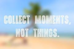 Recoja los momentos imagen de archivo