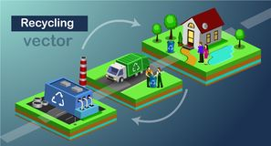 Recolector Truck ilustración del vector