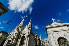 Recolet Cemetery in the cities of Buenos Aires. The burial place of many famous Argentines. Some burials are recognized. As historical monuments Royalty Free Stock Image
