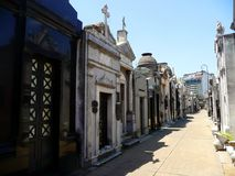 Recoleta Cementary. The Recoleta Cemetery is one of the main tourist attractions in the neighborhood. It is an outstanding display of nineteenth- and twentieth royalty free stock photo