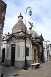 Recoleta Cemetary. A row of tall monuments in the Recoleta Cemetary, Buenos Aires Stock Photos