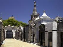 Recoleta Cemetery in Buenos Aires - Argentina. Rows of tombs in Recoleta Cemetery (Cementerio de la Recoleta) in Buenos Aires, Argentina Stock Image