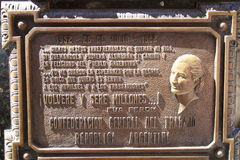 Recoleta Cemetery: Grave of Eva Peron Royalty Free Stock Images
