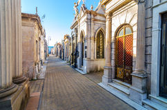 Recoleta Cemetery. The most important and famous cemetery in Argentina Stock Photos
