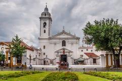 Recoleta Nuestra Senora del Pilar Church in Buenos aires op een Ra Stock Afbeeldingen