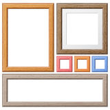 Recolha quadros de madeira fotos de stock