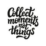 Recolha a tipografia das coisas dos momentos não Ilustração Royalty Free