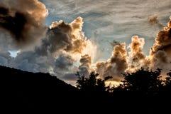 Recolhendo a tempestade Fotografia de Stock