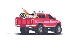 Recolhimento com motocicletas dos esportes ilustração royalty free