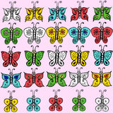 Recolhimento da borboleta Imagem de Stock