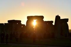 Recolhimento das foliões em Stonehenge Fotografia de Stock Royalty Free