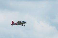Recolhimento 2014 do avião da hélice do vintage do festival aéreo de Eagles Fotografia de Stock