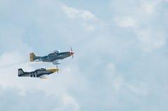 Recolhimento 2014 do avião da hélice do vintage do festival aéreo de Eagles Fotos de Stock Royalty Free