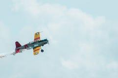 Recolhimento 2014 do avião da hélice do vintage do festival aéreo de Eagles Foto de Stock