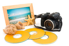 Recollecting last trave Royalty Free Stock Photo
